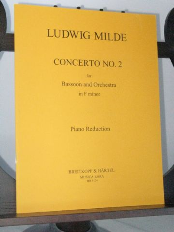 Milde L - Bassoon Concerto No 2 in F Minor arr Schubert J